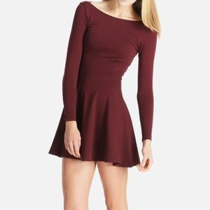 American Apparel Ponte Long Sleeve Skater Dress